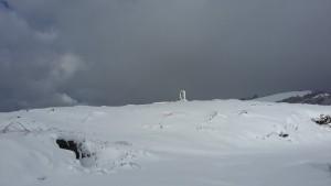 Fontaine de Roland sous la neige