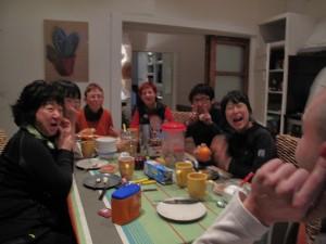 Petit déjeuner avec nos pèlerins