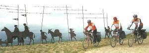 Vélos au Alto del Perdon