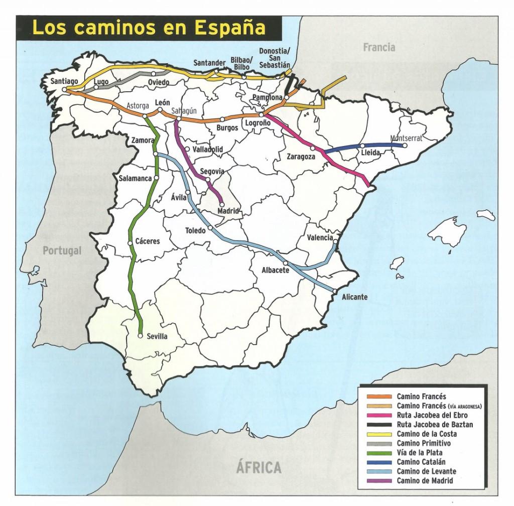 los caminos en Espana